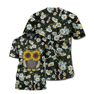 DAISY & OWL PATTERN 3D FULL OVER PRINTED CLOTHES