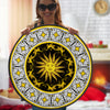 HIPPIE GORGEOUS SUN WITH MANDALA PATTERN ROUND CARPET