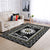 PEACE SIGN IN THE SUNFLOWER BLACK & WHITE HIPPIE AREA RUG