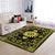 PEACE SIGN IN THE SUNFLOWER BLACK & GOLDEN PATTERN HIPPIE AREA RUG