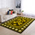 THE COMBINATION OF SUNFLOWERS, PEACE SIGN AND DOVES HIPPIE AREA RUG