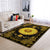 HIPPIE SUNFLOWER AND GOLDEN ROYAL PATTERN AREA RUG