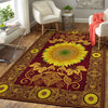 HIPPIE THE LUXURIOUS SUNFLOWERS PATTERN HIPPIE AREA RUG