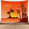 HIPPIE BEAUTIFUL BEACH LIFE BACKGROUND TAPESTRY