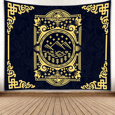 LUXURIOUS HIPPIE PATTERNS WITH MANDALA BACKGROUND TAPESTRY