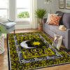 THE COMBINATION OF WONDERFUL SUN AND MOON IN HIPPIE PATTERN AREA RUG