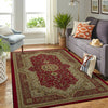 HIPPIE PEACE SIGN WITH LUXURIOUS PATTERNS AREA RUG