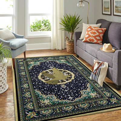 A PEACE DOVE WITH LUXURIOUS PATTERNS HIPPIE AREA RUG