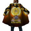 THE SUNFLOWERS AND ALIEN HIPPIE HOODED COAT