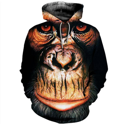 3D All Over Printed Monkey T Shirt Hoodie 312019
