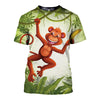 3D All Over Printed Monkey T Shirt Hoodie 31201910