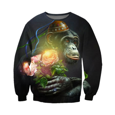 3D All Over Printed Monkey T Shirt Hoodie 3120195