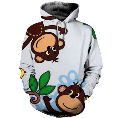 3D All Over Printed Monkey T Shirt Hoodie 3120197
