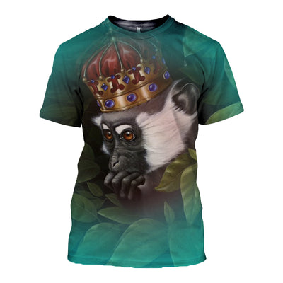 3D All Over Printed Monkey T Shirt Hoodie 3120198