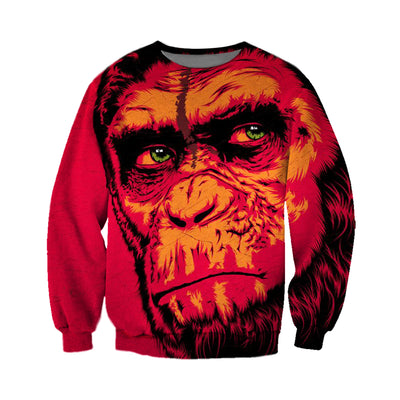 3D All Over Printed Monkey T Shirt Hoodie 3120199