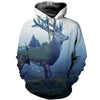 3D All Over Printed Moose T Shirt Hoodie 29121