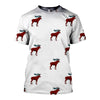 3D All Over Printed Moose T Shirt Hoodie 291214