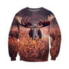 3D All Over Printed Moose T Shirt Hoodie 29122
