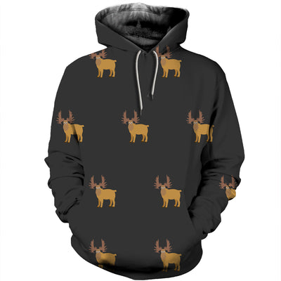 3D All Over Printed Moose T Shirt Hoodie 291219