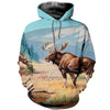 3D All Over Printed Moose T Shirt Hoodie 291220