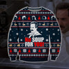 No Soup For You KNITTING PATTERN 3D PRINT UGLY CHRISTMAS SWEATER
