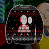 ONE PUNCH MAN KNITTING PATTERN 3D PRINT UGLY CHRISTMAS SWEATER