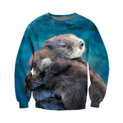 3D All Over Printed Otter T Shirt Hoodie 141206