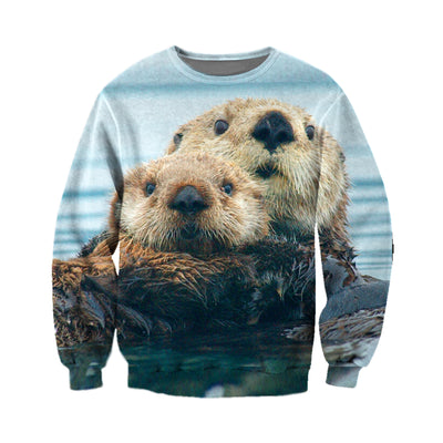 3D All Over Printed Otter T Shirt Hoodie 141208