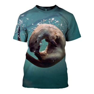3D All Over Printed Otter T Shirt Hoodie 141209