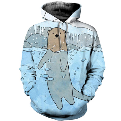 3D All Over Printed Otter T Shirt Hoodie 141012