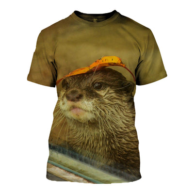 3D All Over Printed Otter T Shirt Hoodie 141015