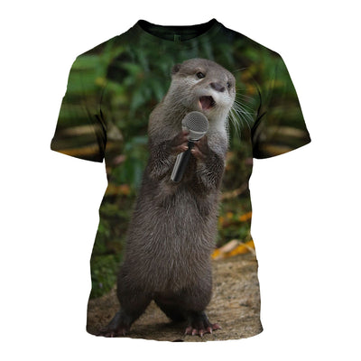 3D All Over Printed Otter T Shirt Hoodie 141016