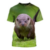 3D All Over Printed Otter T Shirt Hoodie 141018