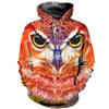 3D All Over Printed Owl T Shirt Hoodie 1312