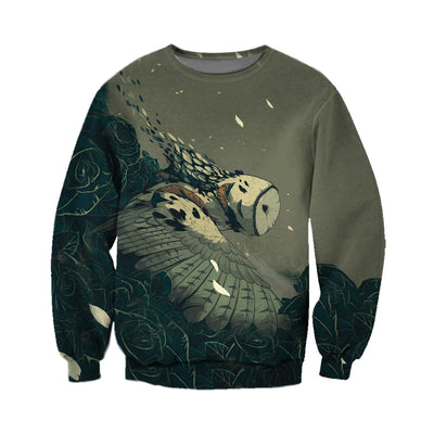 3D All Over Printed Owl T Shirt Hoodie 13124