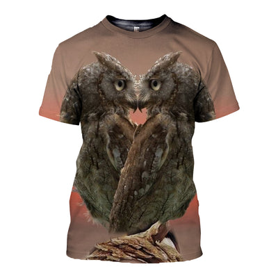3D All Over Printed Owl T Shirt Hoodie 13125