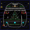 PACMAN KNITTING PATTERN 3D PRINT UGLY CHRISTMAS SWEATER