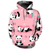 3D All Over Printed Panda T Shirt Hoodie 50101