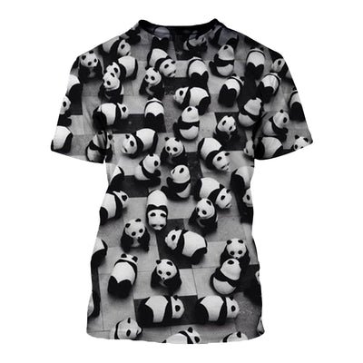 3D All Over Printed Panda T Shirt Hoodie 50103