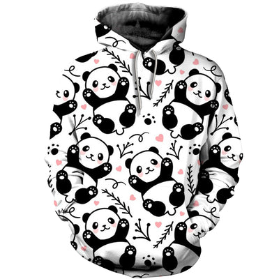 3D All Over Printed Panda T Shirt Hoodie 50105