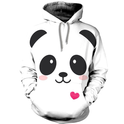 3D All Over Printed Panda T Shirt Hoodie 50107