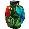 3D All Over Printed Parrot T Shirt Hoodie 141210