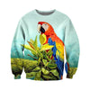3D All Over Printed Parrot T Shirt Hoodie 14122