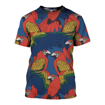 3D All Over Printed Parrot T Shirt Hoodie 14123