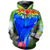 3D All Over Printed Parrot T Shirt Hoodie 14126