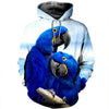 3D All Over Printed Parrot T Shirt Hoodie 14128