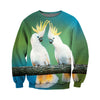 3D All Over Printed Parrot T Shirt Hoodie 14129