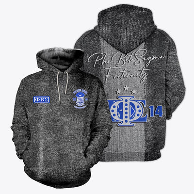 3D ALL OVER PHI BETA SIGMA HOODIE T SHIRT
