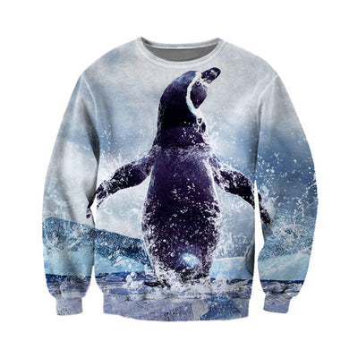 3D All Over Printed Penguin T Shirt Hoodie 151202