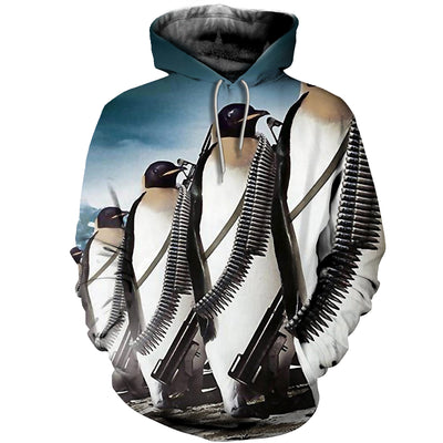 3D All Over Printed Penguin T Shirt Hoodie 151205